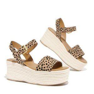 Espadrille Flatform Sandals – Leopard